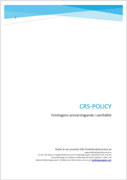 CSR-policy